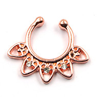body piercing nakit chic nos piercing vještački dijamant srca lažni septum brnjica za žene