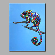 Single Modern Abstract Pure Hand Draw Ready To Hang Decorative The Chameleon  Oil Painting