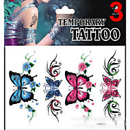 cheap Temporary Tattoos-1 Glitter Non Toxic Pattern Lower Back Waterproof Christmas Others Tattoo Stickers