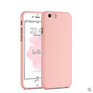 cheap -Pink Girl Solid Colour Elegant Simple Soft  Case for iPhone 6/6S Plus