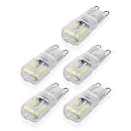 ywxlight® g9 14led 4w 2835smd 450-550 lm vezetett, két-pólusú lámpák meleg, fehér, hideg, fehér fényű, ledvezető kukorica izzó csillár lámpa 10db