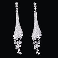 preiswerte Schmuck-Damen Ohrring Messing Kubikzirkonia Drop Earrings