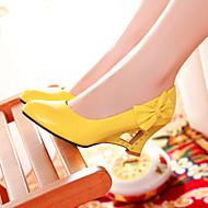 baratos Sapatos Femininos-Mulheres Sapatos Courino Primavera / Verão Inovador Salto Plataforma Laço Preto / Amarelo / Vermelho / Social