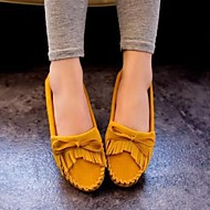 Women's Shoes Tassels Bowknot Flat Heel Comfort / Round Toe Flats Outdoor / Casual More Colors Can Available
