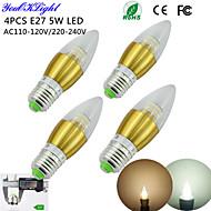 E26/E27 LED-lysestakepærer C35 50 leds SMD 3014 Dekorativ Varm hvit Kjølig hvit 450lm 3000/6000K AC 220-240 AC 110-130V