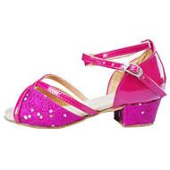 tanie Small Size Shoes-Damskie Dla dzieci Latino Wyczeski Satyna Syntetyczny Sandały Domowy Wydajność Na wolnym powietrzu Profesjonalne Dla początkujących