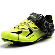 baratos Sapatos Masculinos-Homens Fibra de Carbono Outono / Inverno Conforto Tênis Ciclismo Preto / Verde