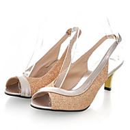 baratos Sapatos Femininos-Mulheres Sapatos Couro Envernizado / Gliter Verão Salto Sabrina Gliter com Brilho / Presilha / Combinação Vermelho / Azul / Dourado / Festas & Noite / Festas & Noite