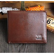 Men Bags All Seasons PU Cowhide Wallet Money Clip Ruffles for Casual Professioanl Use Black Brown