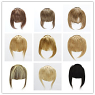 rány nebo třásně lidský rovné vlasy 3clips 30 g Klip na na prodlužování vlasů doprava zdarma janet barevné