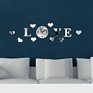 billige Veggklokker-Moderne / Nutidig Akryl LOVE Fly vægklistermærker