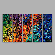5 Pieces Oil Paintings Abstract Painting Handmade