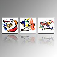 Abstrakti / Eläin / Leisure / Famous / Landscape / Moderni / Romantiikka / Matkailu Canvas Tulosta 3 paneeli Valmis Hang , Neliö