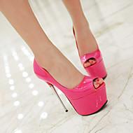 baratos Sapatos Femininos-Mulheres Sapatos Couro Envernizado Primavera / Verão Salto Agulha Gliter com Brilho / Vazados Rosa claro / Dourado / Coral / Casamento