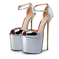 baratos Sapatos Femininos-Mulheres Sapatos Courino Primavera / Outono Salto Agulha Vermelho / Dourado / Amêndoa / Festas & Noite / Festas & Noite