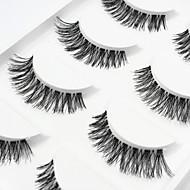 5 Eyelashes lash Full Strip Lashes Eyelash Crisscross Natural Long The End Is Longer Natural Handmade Fiber Transparent Band 0.07mm