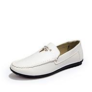 Masculino sapatos Couro Ecológico Verão Conforto Sandálias Para Casual Branco Preto Marron