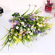 Gren Polyester Plastikk Orkideer Bordblomst Kunstige blomster