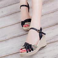 baratos Sapatos Femininos-Mulheres Sapatos Courino Verão Salto Plataforma Presilha Preto / Roxo / Azul