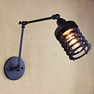 Style Bed Hotel Eestaurant Project Iron Arm Double Retro Vintage Black Belt Wall Lamp Switch