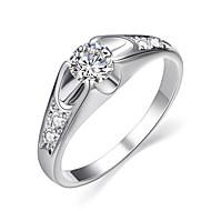Statement-ringe Krystal Imitation Diamond Legering Klassisk Mode Sølv Gylden Smykker Bryllup Fest 1 Stk.