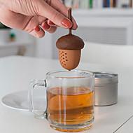 silicone esquilo forma bolota chá infusor pinho solto chá porcas saco de filtro do filtro à base de plantas de especiarias difusor