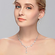 cheap Jewelry-Women's Jewelry Set Earrings Necklace - Regular Others Silver For Wedding Party Special Occasion Anniversary Birthday Engagement Gift