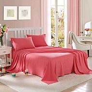 cheap Solid Duvet Covers-Solid 4 Piece Polyester Piece Dyed Polyester 2pcs Shams 1pc Flat Sheet 1pc Fitted Sheet (If Twin size, only 1 Sham or Pillowcase)