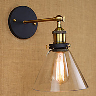 billige Vegglamper-AC 110-130 AC 220-240 40 E26/E27 Rustikk Gylden Trekk for Pære inkludert,Atmosfærelys Vegglamper Vegglampe