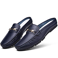 cheap Men's Clogs & Mules-Men's Shoes Wedding/Office & Career/Party & Evening/Athletic/Dress/Casual Nappa Leather Loafers Blue/Brown/White