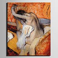 Olieverfschilderij vrouw abstracte handgeschilderd canvas met uitgestrekte framed