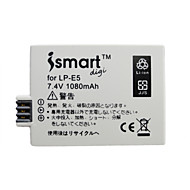캐논 EOS 500D / 1000D / 450D에 대한 ismartdigi lpe5 디지털 카메라 배터리 × 2 + o.charger