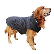Kutya Kabátok Prsluk Téli ruházat Kutyaruházat Melegen tartani Kifordítható Pléd / takaró Bézs Barna Piros Zöld Háziállatok számára