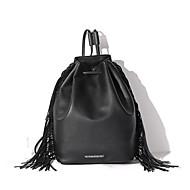 女性 バッグ PU ショルダーバッグ バックパック スクールバッグ キャリーケース 機内持ち込み用ケース/エアキャビンケース のために イベント/パーティー ショッピング カジュアル 秋 ブラック