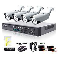 billige DVR-Sett-liview® 4ch hdmi 960h nettverk dvr 900tvl utendørs dag / natt sikkerhet kamera system