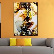 halpa -Maalattu AbstraktiModerni / Classic / Perinteinen / Pastoraali / European Style 1 paneeli Kanvas Hang-Painted öljymaalaus For