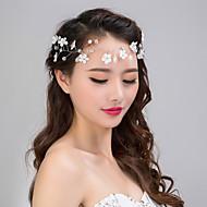 billige Bryllup Hovedbeklædning-Imiteret Perle Net Pandebånd Blomster 1 Bryllup Speciel Lejlighed Medaljon