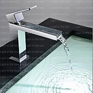 Çağdaş Küvet ve Duş Şelale with  Seramik Vana Tek Kolu Bir Delik for  Krom , Duş Musluğu / Küvet Muslukları / Banyo Lavabo Bataryası