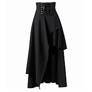 cheap Women's Skirts-Women's Going out Street chic A Line Skirts - Solid Colored, Layered