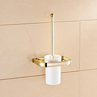Toilet Brush Holder Bathroom Gadget / Ti-PVD Brass /Neoclassical