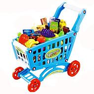 ieftine Bani & Bancă-Jucării pentru mașini Joacă Cărucioare de Jucărie Jucarii Legume Cărucior de cumpărături Fruct Simulare Plastic Bucăți