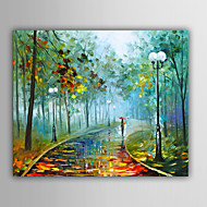 Hand-Painted Abstract / Landscape / Fantasy / Abstract LandscapeEuropean Style One Panel Canvas Oil Painting For Home Decoration