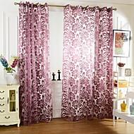 povoljno -Rod Pocket Jedna ploča Prozor Liječenje Zemlja , Jacquard Living Room Polyester Materijal Sheer Zavjese Shades Početna Dekoracija