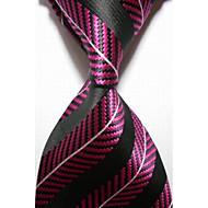 Krawat-Prążki(Czarny / Burgundowy,Poliester)
