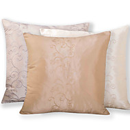 cheap Throw Pillows-Polyester Pillow Cover , Embroidering Flower