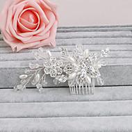 ieftine Șic Floral-strasuri de par stralucire părul nunții partid elegant stil feminin