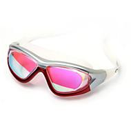 billiga Swim Goggles-Simglasögon Anti-Dimma Justerbar storlek Anti-UV Stöttålig Vattentät Kiselgel PC Röd Svart Blå Ljusblå Silver Grå
