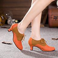 baratos Sapatilhas de Dança-Mulheres Sapatos de Dança Moderna Glitter / Sintético / Veludo Salto / Têni Gliter com Brilho / Fru-Fru / Franzido Salto Cubano Não