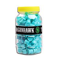 1パックミディアムタトゥーインクカップユニークなデザインシリコーン材料の入れ墨の供給を青色キャップ