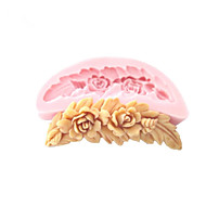 עובש שוקולד כלים מלאכת סוכר תבניות פונדנט עובש סיליקון פרחים בצורת מסרק לעוגות